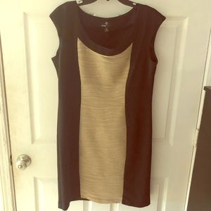 Bodycon Taupe Inset Pullover Dress